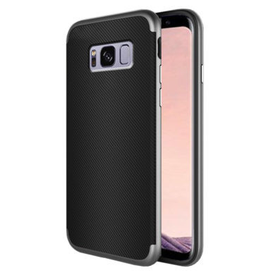 Samsung Galaxy S8 Plus – Carbon Fiber TPU Case with PC Frame